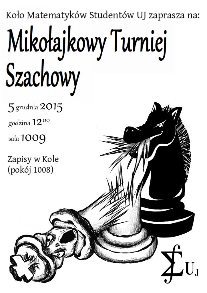 Plakat Mikołajkowego Turnieju Szachowego 2015